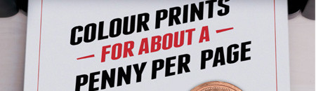 Print in Colour for about a Penny per Page
